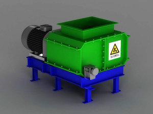 3D industrial machinery shredder mechanical
