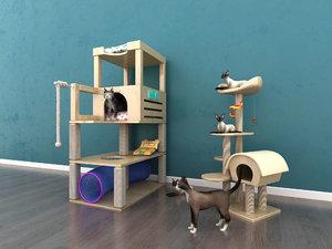 3D cat crawler lair house