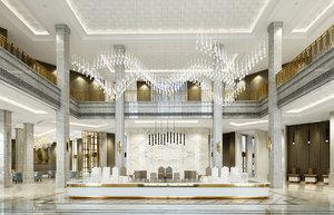 lobby interiors 3D model