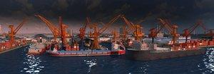 dock offshore oil exploitation model