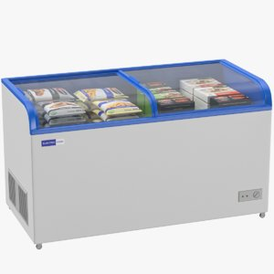 food freezer display 3D