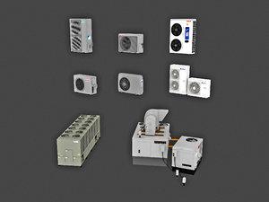 external air conditioning unit 3D model