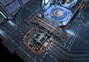portal science fiction realistic 3D model