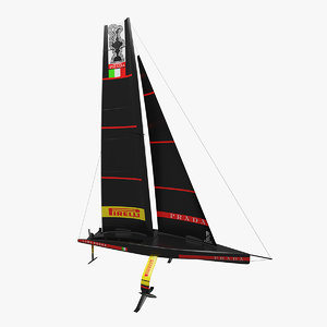 ac75 luna rossa 3D model
