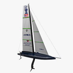 3D defiant american magic sailboat model