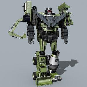g1 devastator transformer animation 3D model