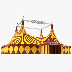3D real circus tent model