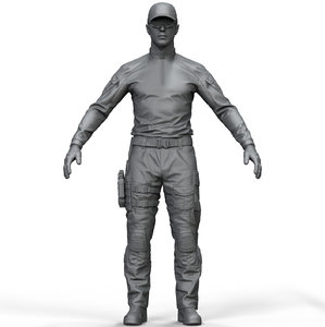 3D model zbrush special force soldier