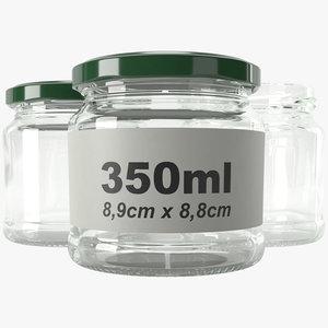 3D model jar glass type8