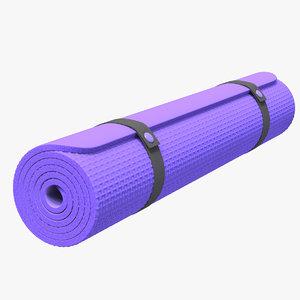 3D gym carpet rollup model