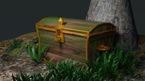 3D treasure animation opens