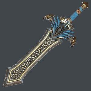 fantasy sword 25 scabbard 3D model