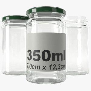 jar glass type9 3D model