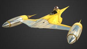 naboo starfighter 3D model