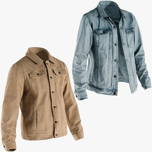 realistic jackets 2 collections 3D model
