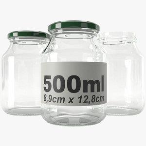 3D jar glass type10 model