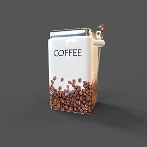 3D model coffee container spoon zeller