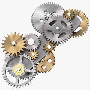 3D gear mechanism mixed model