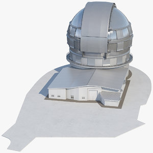 3D gran tecan reflecting telescope model
