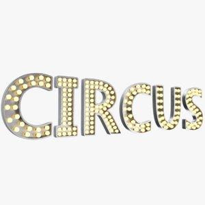 3D real circus sign model