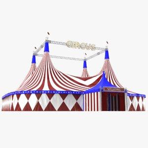 3D model real circus tent