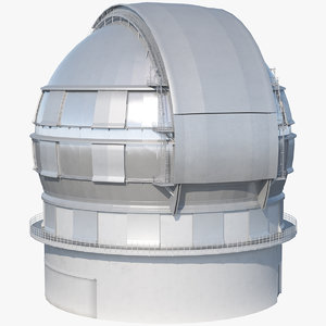 astronomical observatory dome 3D