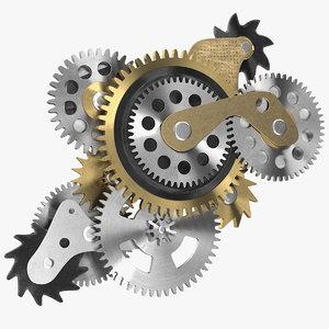 3D model cog gears