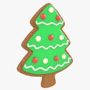 gingerbread tree christmas cookie model