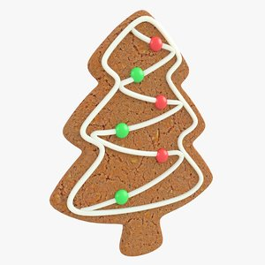 3D model gingerbread tree christmas cookie