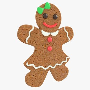 gingerbread woman christmas cookie 3D model