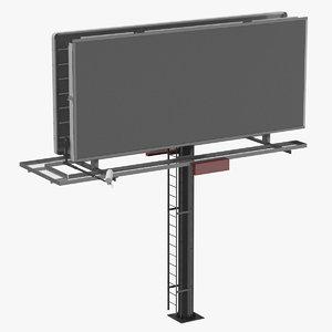 3D billboard 01 model