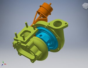 3D turbine turbocharger