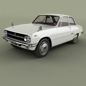 1963 isuzu bellett gt 3D model