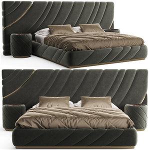 3D bed bedside table model