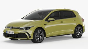 3D volkswagen golf r-line model