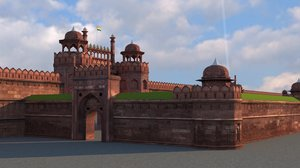 3D red fort