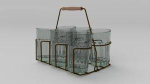 3D tea glass