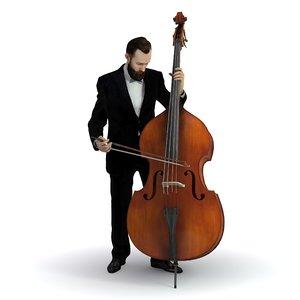 3D realistic musicians music model