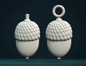 acorn relief 3D model