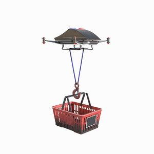 3D drone basket rope model