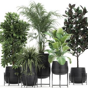 3D plant flowerpots