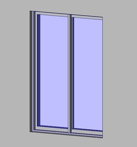 3D revit sliding window