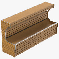Wooden Grocery Unit Fruits And Veggies 02