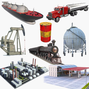 oil production equipment 3D
