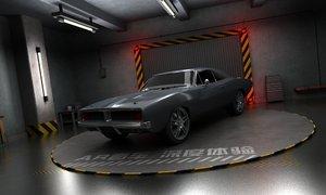 3D model garage scene ar vr