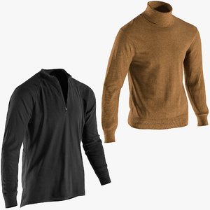 3D model realistic men s pullovers