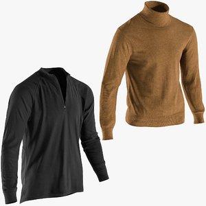 3D model realistic men s pullovers