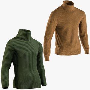 3D realistic men s pullovers model
