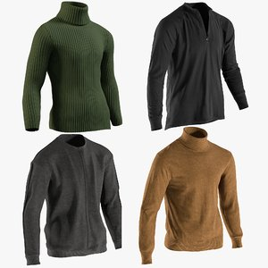 realistic men s pullovers model