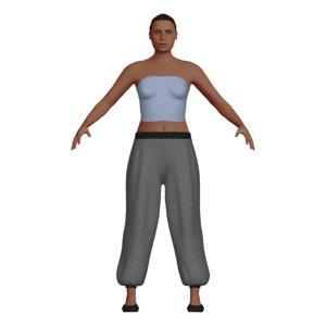 caucasian woman adult harem 3D